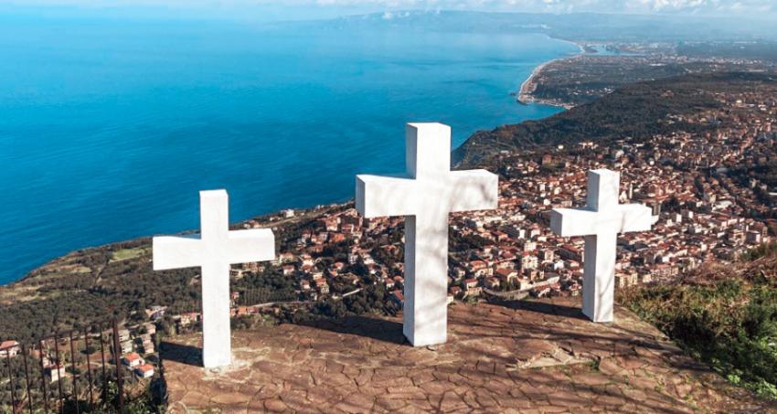 Panorama visto dal belvedere Tre croci Sant'Elia